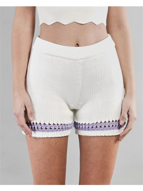 Shorts bicolor Vicolo VICOLO | Shorts | 5028HBIANCO-LAVANDA