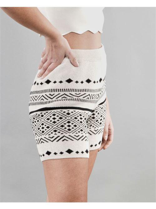 Shorts in maglia a fantasia Vicolo VICOLO | Shorts | 7091HBEIGE-NERO