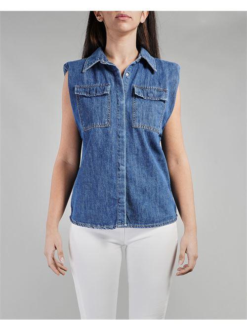 Camicia smanicata in denim Vicolo VICOLO | Camicia | DH0125DENIM