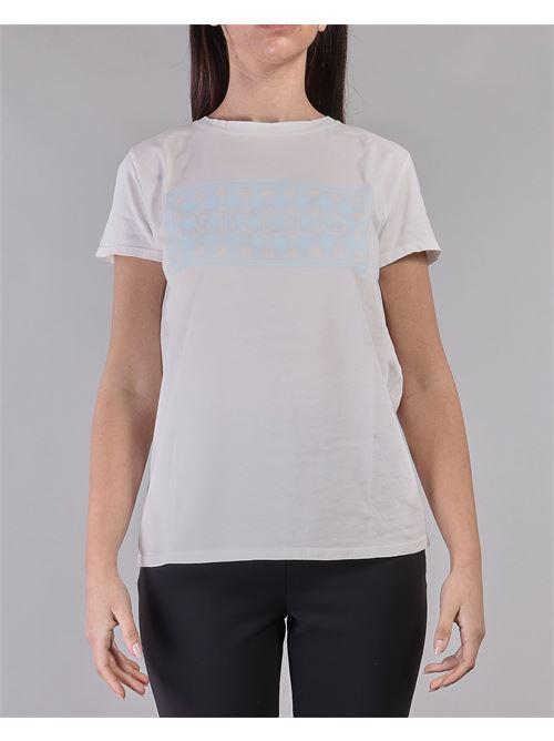 T-shirt con stampa Vicolo VICOLO | T-shirt | RH0157BIANCO-AZZURRO