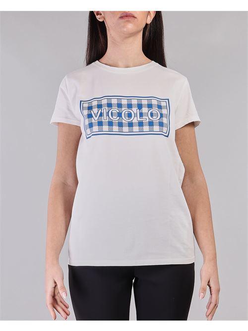 T-shirt con stampa Vicolo VICOLO | T-shirt | RH0157BIANCO-BLU