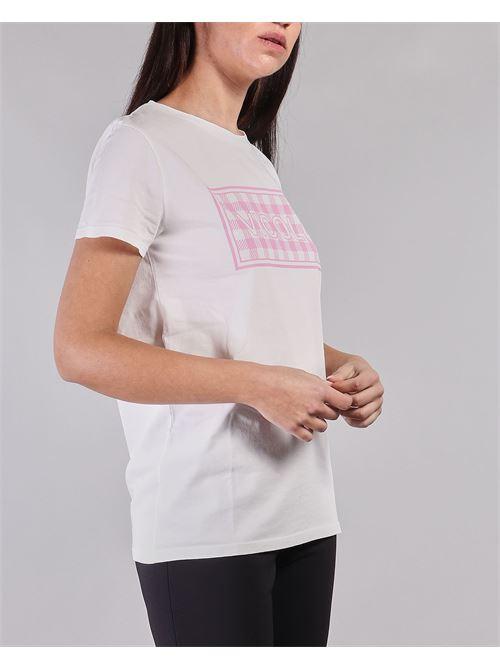 T-shirt con stampa Vicolo VICOLO | T-shirt | RH0157BIANCO-ROSA