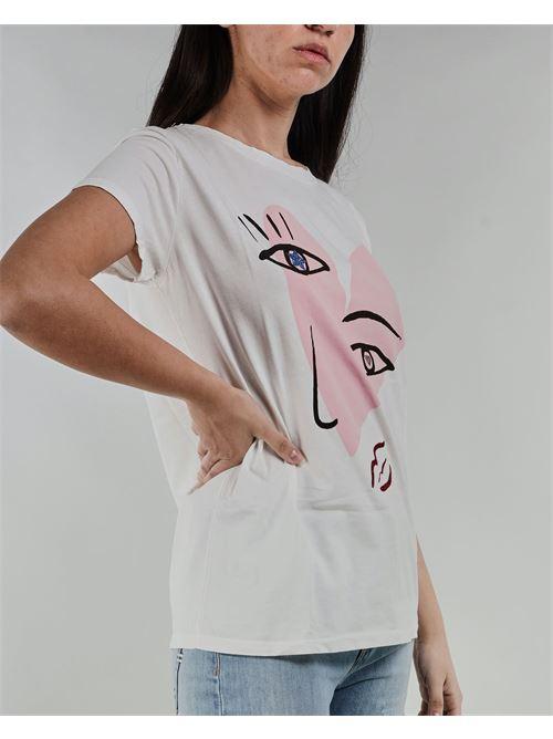T-shirt con stampa di Vicolo VICOLO | T-shirt | RH0285BIANCO