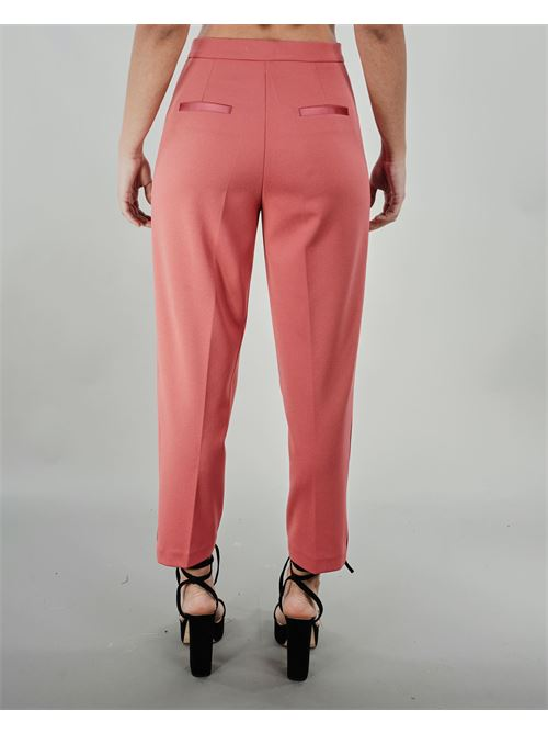 Pantalone con banda in raso Vicolo VICOLO | Pantalone | TH0030ROSA