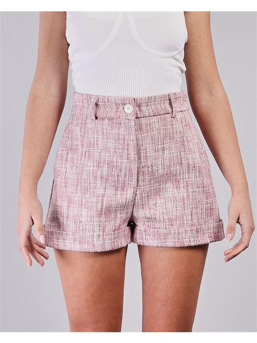 Shorts con risvolti a fantasia Vicolo VICOLO | Shorts | TH0717ROSA-BIANCO