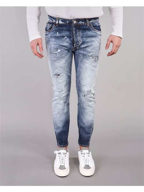 Jeans con rotture e scambiature Yes London YES LONDON | Jeans | XJ2964DENIM
