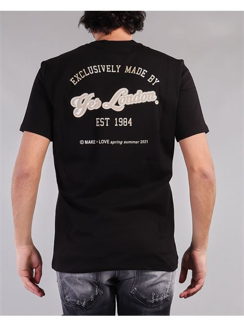 T-shirt con logo sul davanti e stampa sul retro Yes London YES LONDON | T-shirt | XM3850NERO