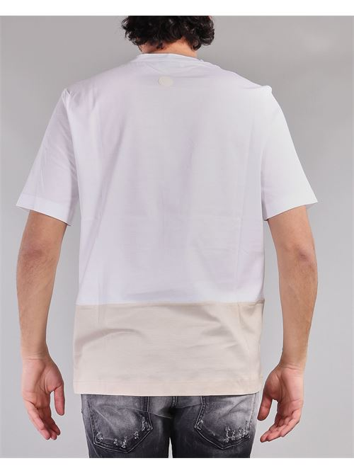 T-shirt bicolor Yes London YES LONDON | T-shirt | XM3855BIANCO-BEIGE
