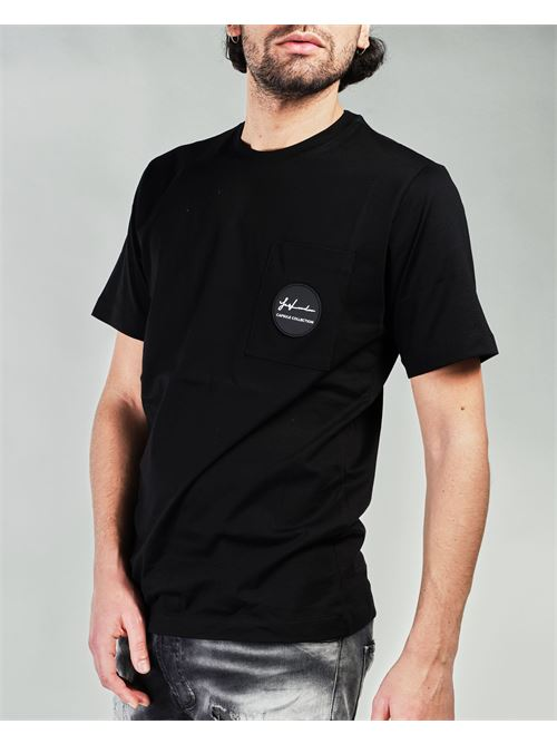 T-shirt con taschino e patch logo Yes London YES LONDON | T-shirt | XM3886NERO