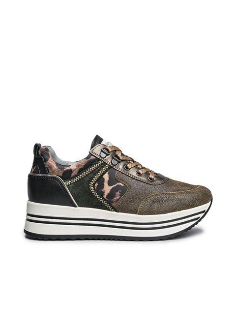 NERO GIARDINI I013291D /510 SEBRING MILITARE 694 PARADISE PERL.VERDEG T.RASO LEOPARD ECRU' Nero Giardini | Sneakers | I013291D510