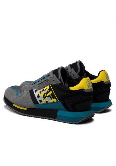 Sneaker Napapijri uomo Virtus Camo NP0A4G8C grey black Napapijri | Sneakers | NP0A4G8CGREY/BLACK