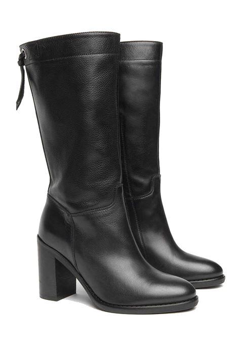 Stivali da donna in pelle tacco 8,5cm Nero Giardini | Stivali | I014045D100