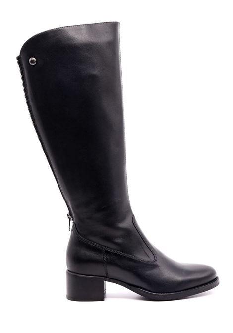 Stivali da donna in pelle tacco 4cm Nero Giardini | Stivali | I117561D100