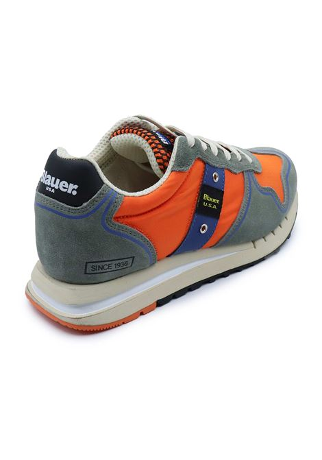 BLAUER SNEAKERS UOMO S1QUARTZ01/TEX ORANGE Blauer | Sneakers | S1QUARTZ01/TEXORANGE