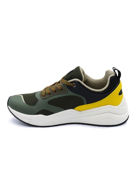 BLAUER SNEAKERS UOMO S1TOK01/MES MILITARY/YELLOW Blauer | Sneakers | S1TOK01/MESMILITARY/YELLOW