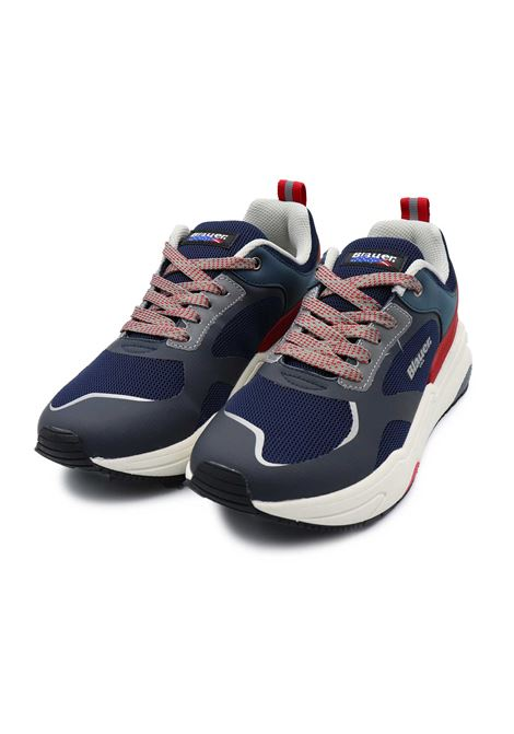 BLAUER SNEAKERS UOMO S1TOK01/MES NAVY/RED Blauer | Sneakers | S1TOK01/MESNAVY/RED