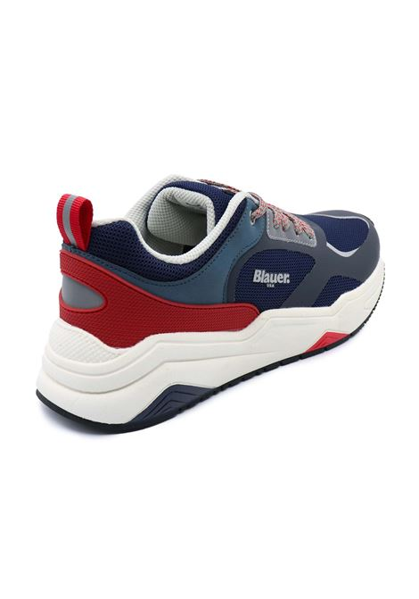 BLAUER SNEAKERS UOMO S1TOK01/MES NAVY/RED Blauer   Sneakers   S1TOK01/MESNAVY/RED