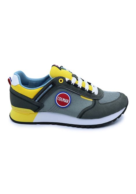 COLMAR SNEAKERS TRAVIS SPORT COLORS 039 GRAY/YELLOW Colmar | Sneakers | TRAVIS SPORT COLORS039