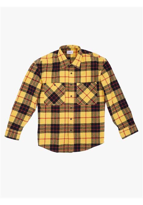 Camicia da uomo manica lunga a quadri giallo AMISH   Camicie   A21AMU101CB41XXXX140