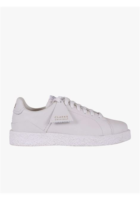 White tennis shoe CLARKS | Casual Shoes | 26161902WHITE LEATHER