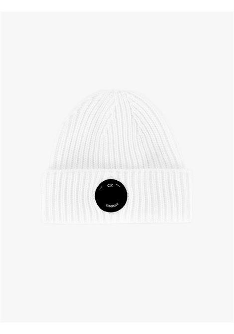 Berretto uomo in lana merino extra fine bianco C.P. COMPANY   Cappelli   11CMAC272A005509A103