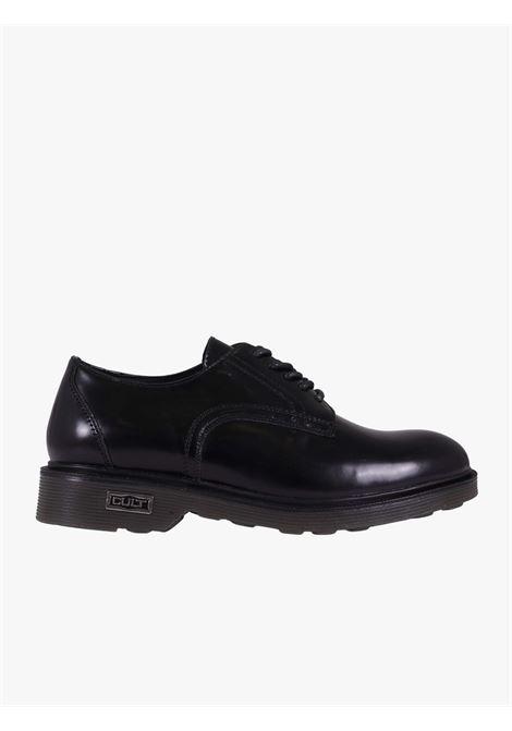 Men's black leather shoes OZZY 412 CULT   Elegant shoes   CLE101625BLACK