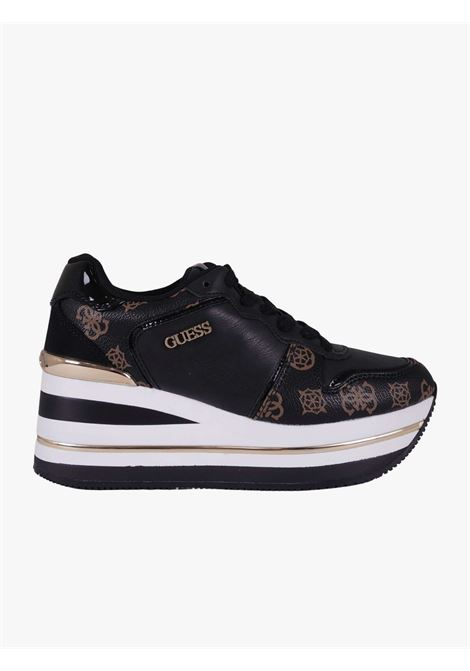Hektore sneakers with peony logo GUESS | Sneakers | FL7HEEFAB12BLKBR