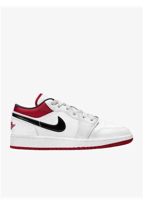 Sneakers Uomo Air Jordan Low bianca con lo swoosh nero NIKE | Sneakers | 553560-118