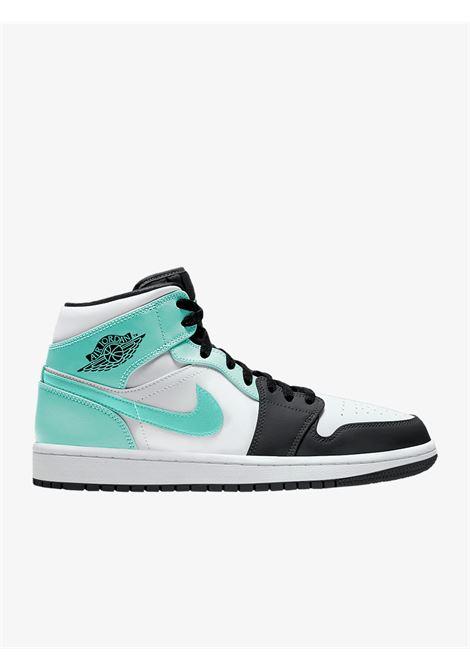 Sneakers uomo Air Jordan 1 Mid con dettagli in pelle verde tropicale NIKE   Sneakers   554724-132