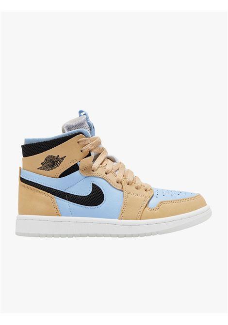 Air Jordan 1 Zoom CMFT sesame and hot blue sneakers NIKE | Sneakers | CT0979-400