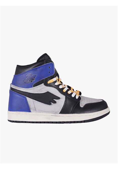 Tribute high leather sneakers with navy blue and black details  PRETTY FEAR | Sneakers | PFSDROP0121001E064