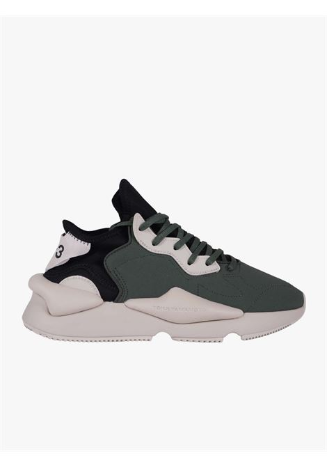 Sneakers Kaiwa verde e nera Y-3   Sneakers   GZ9143SHAGRN/CBROWN/BLACK