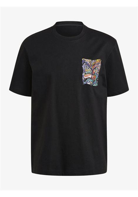 T-Shirt nera adventure munching man archive graphic ADIDAS | T-shirt | GN2340BLACK