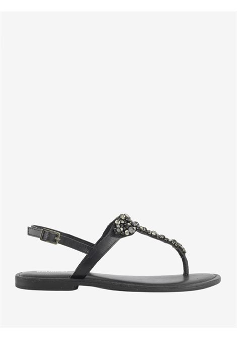 THONG SANDAL WITH JEWEL EMBROIDERY CB FUSION   Sandals   CBF.R221014BLACK