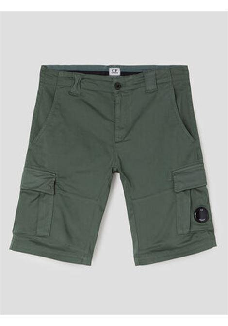 Stretch Sateen Garment Dyed Cargo Shorts C.P. COMPANY | Bermuda | 10CMSB041A002246G329