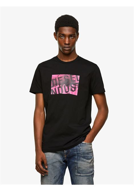 T-shirt slim fit girocollo in jersey di cotone leggero DIESEL | T-shirt | A020700AAXJ9XX