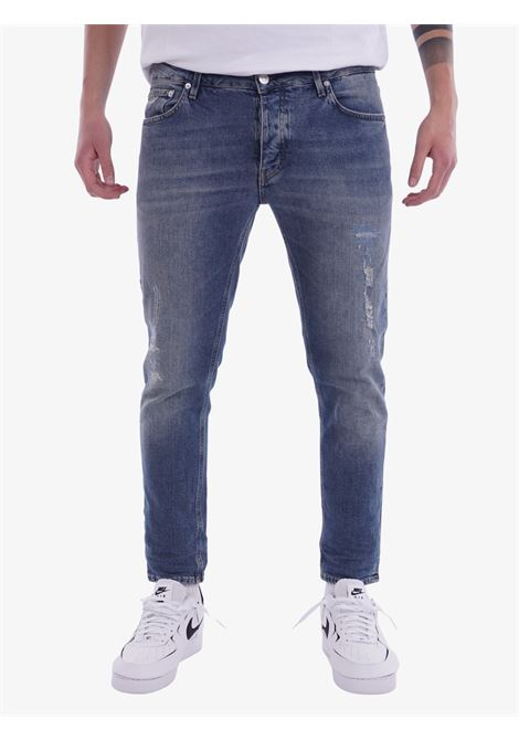 CLEVELAND CROP COMFORT PURE BLU HAIKURE   Jeans   HEM03164DS059L0850Pure blue