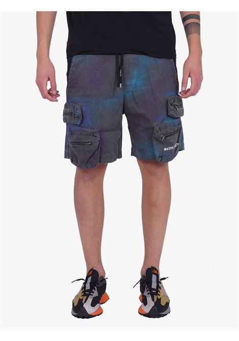 Cargo con fantasia tie-dye MAUNA-KEA | Shorts | MKU266TF999GRIGIO
