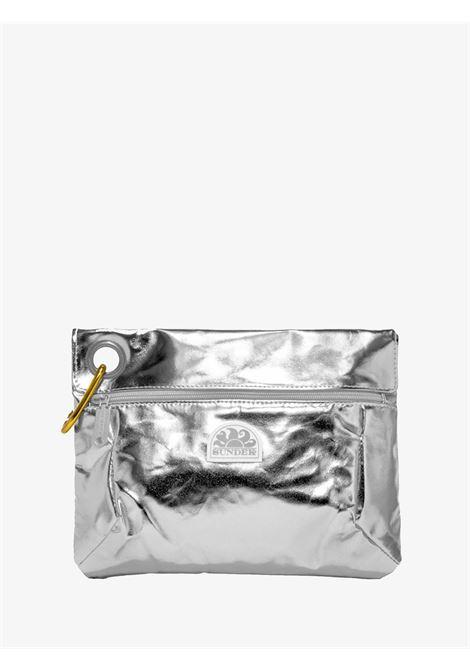 Pochette in tessuto laminato con moschettone SUNDEK   Pochette   AW318ABPU7LA083