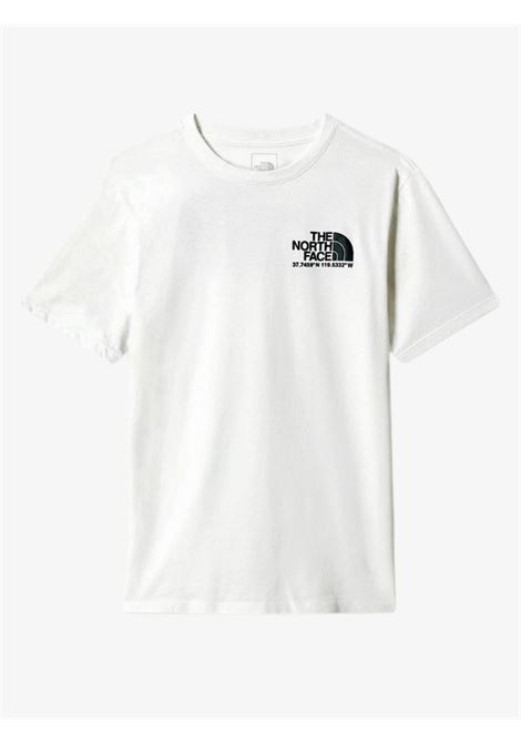 T-Shirt bianca con logo frontale THE NORTH FACE | T-shirt | NF0A52Y8FN41