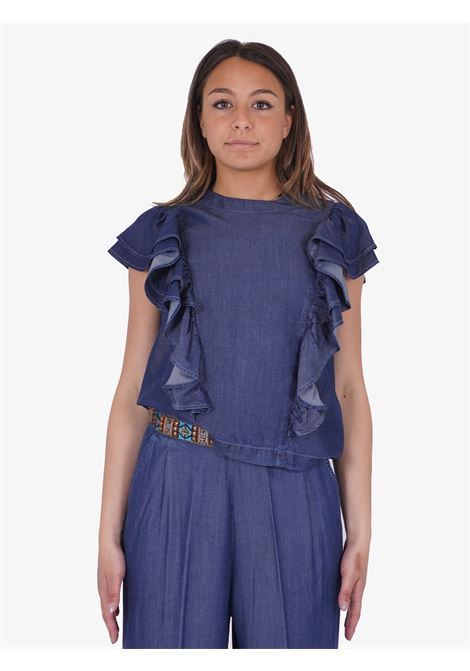 TRASH AND LUXURY | Bluse | TL-03SS216173BLUE