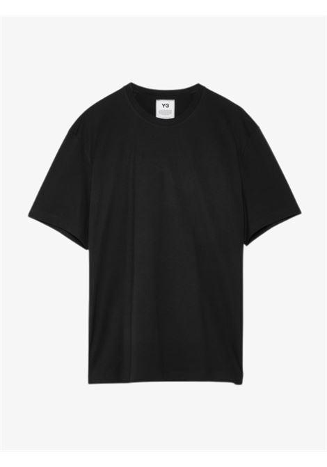 T-shirt Nera con logo sul retro Y-3   T-shirt   FN3348BLACK