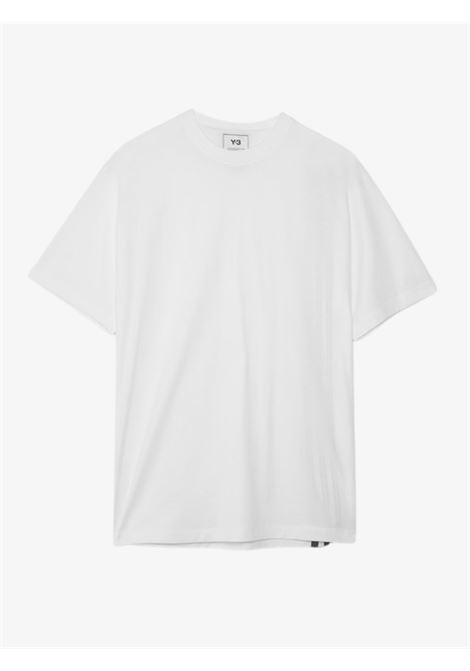 T-shirt in cotone con 3 strisce sul retro Y-3 | T-shirt | H16335CWHITE
