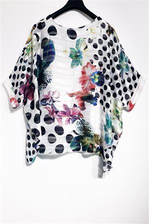 kimono pois+fiori Carla Ferroni | 7 | FER21668BIANCO