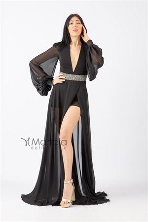 man.lunga c/fascia glitter. MARIA VITTORIA VINCI | 11 | MVV42361NERO