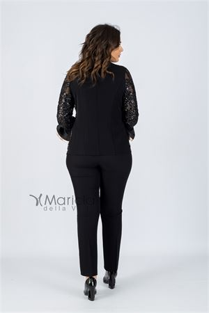 pant. giacca ric.voilant PAOLA FORTI | 42 | PF311NERO