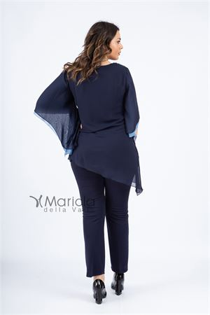 casacca ric. + pant PAOLA FORTI | 42 | PF3180BISBLU