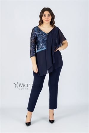 pant.+casacca ric. PAOLA FORTI | 42 | PF3240BLU