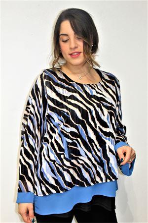 devorè zebrata MARICLA | 7 | CARS08580INDACO