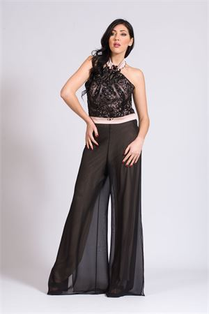pant.georg.+bustier PAOLA FORTI | 42 | PF411NERO/CARNE